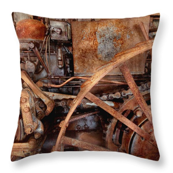Steampunk - Machine - The Industrial Age Throw Pillow by Mike Savad