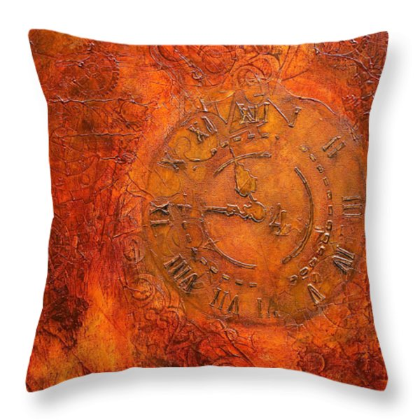 Steampunk Time Throw Pillow by Bellesouth Studio