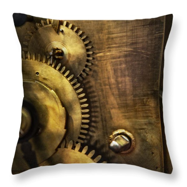 Steampunk - Toothy  Throw Pillow by Mike Savad