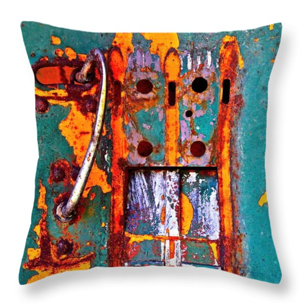 Steel Abstraction Throw Pillow by Karon Melillo DeVega