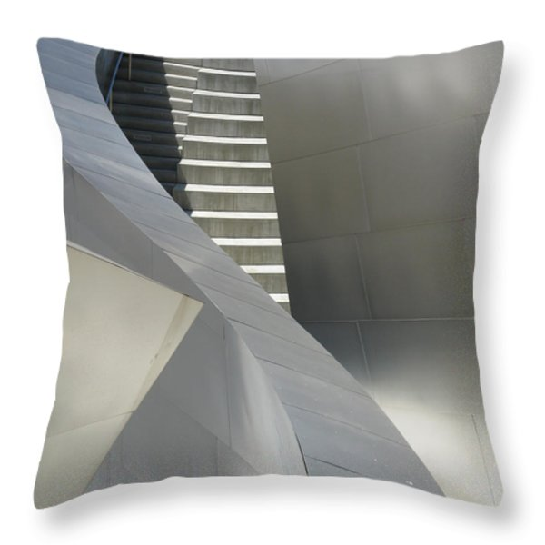 Steel And Concrete Throw Pillow by Ausra Paulauskaite