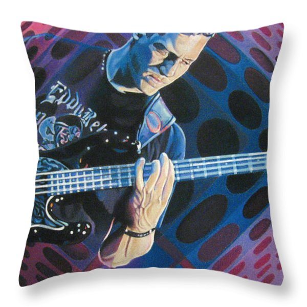 Stefan Lessard Pop-Op Series Throw Pillow by Joshua Morton