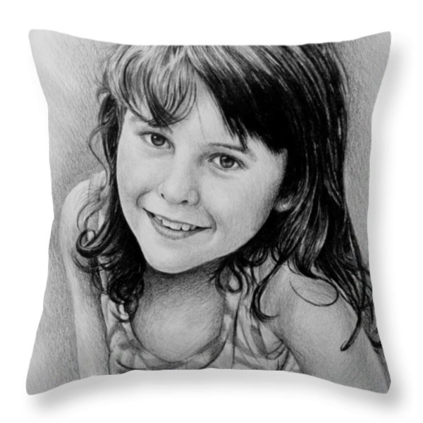 Stefanie Throw Pillow by Andrew Read