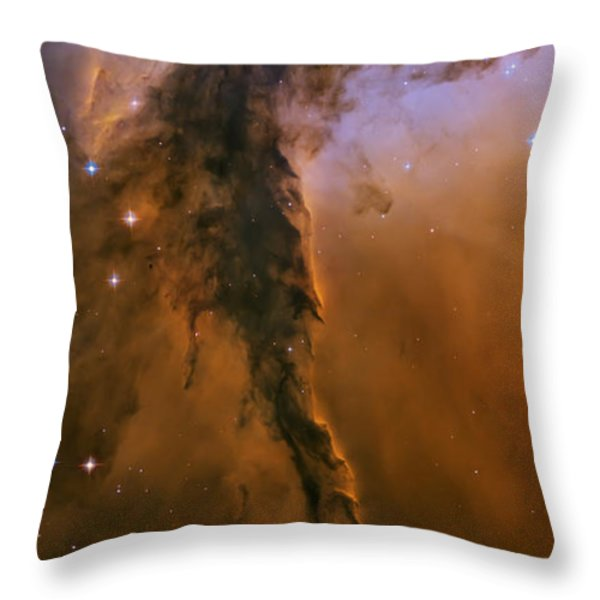Stellar spire in the Eagle Nebula Throw Pillow by Adam Romanowicz