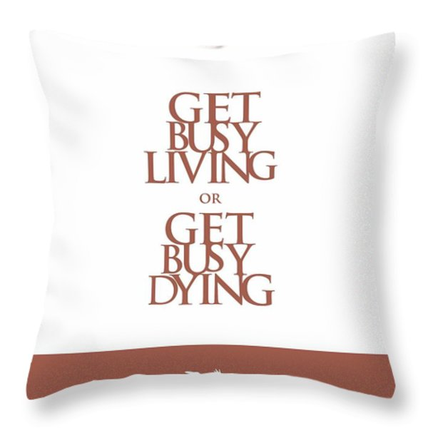 Stephen King Shawshank Redemption movie poster Throw Pillow by Lab No 4 - The Quotography Department
