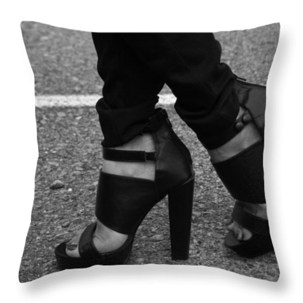Stepping Out 2 Throw Pillow by Ester  Rogers