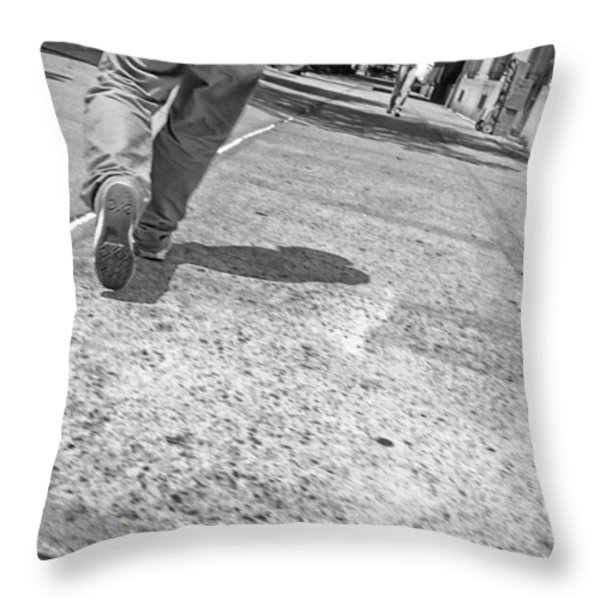 Stepping Out In The City Throw Pillow by Karol  Livote