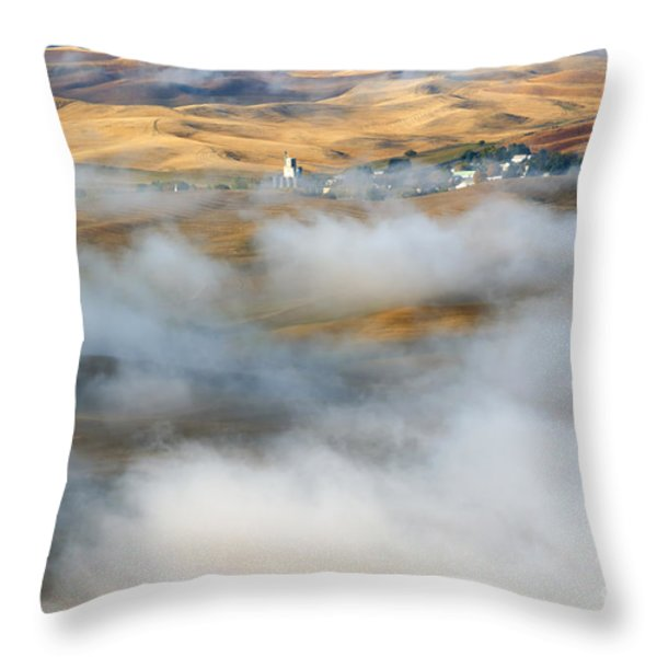 Steptoe Fog Clearing Throw Pillow by Mike  Dawson