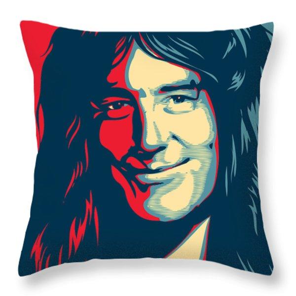 Steve Harris Throw Pillow by Caio Caldas