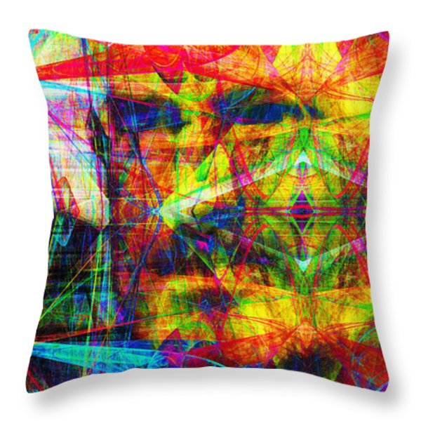 Steve Jobs Ghost In The Machine 20130618 Long Throw Pillow by Wingsdomain Art and Photography
