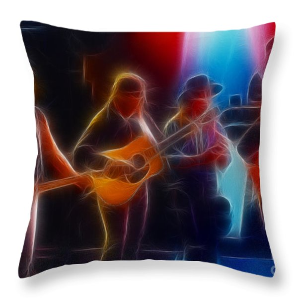 Steve Miller Band Fractal Throw Pillow by Gary Gingrich Galleries