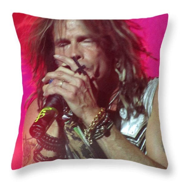 Steven Tyler Picture Throw Pillow by Jeepee Aero