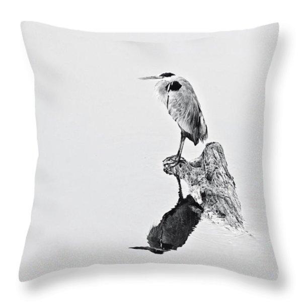 Still Hunter Throw Pillow by Scott Pellegrin