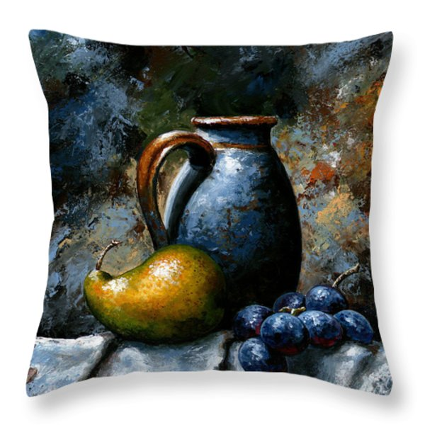 Still life 24 Throw Pillow by Emerico Imre Toth