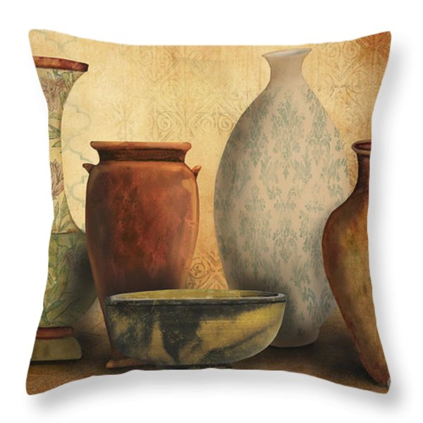 Still Life-D Throw Pillow by Jean Plout
