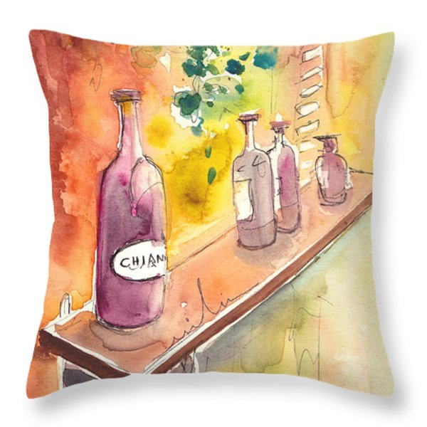 Still Life In Chianti In Italy Throw Pillow by Miki De Goodaboom