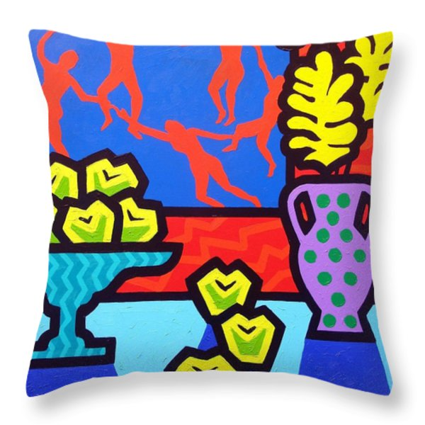 Still Life With Matisse Throw Pillow by John  Nolan