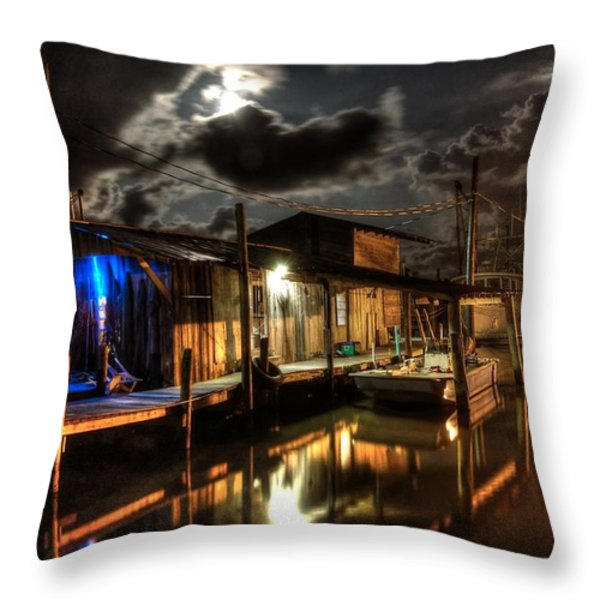 Still Marina Throw Pillow by Michael Thomas