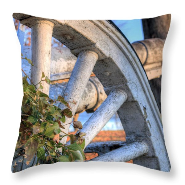 Still on Duty Throw Pillow by JC Findley