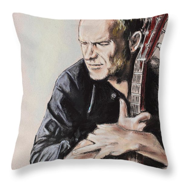 Sting Throw Pillow by Melanie D