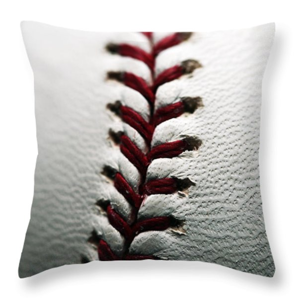 Stitches I Throw Pillow by John Rizzuto