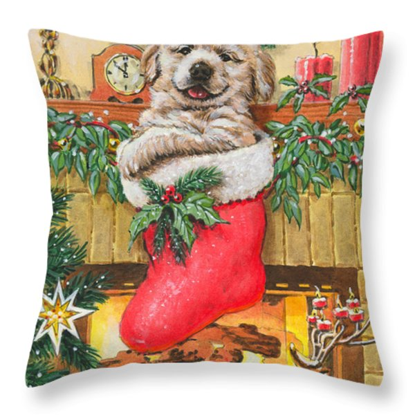 Stocking Stuffer Throw Pillow by Richard De Wolfe
