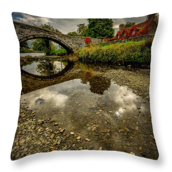 Stone Bridge Throw Pillow by Adrian Evans
