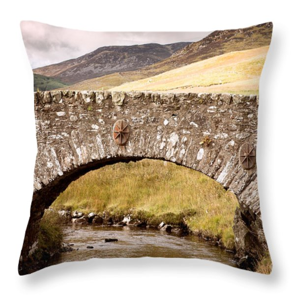 Stone Bridge Highlands  Throw Pillow by Jane Rix