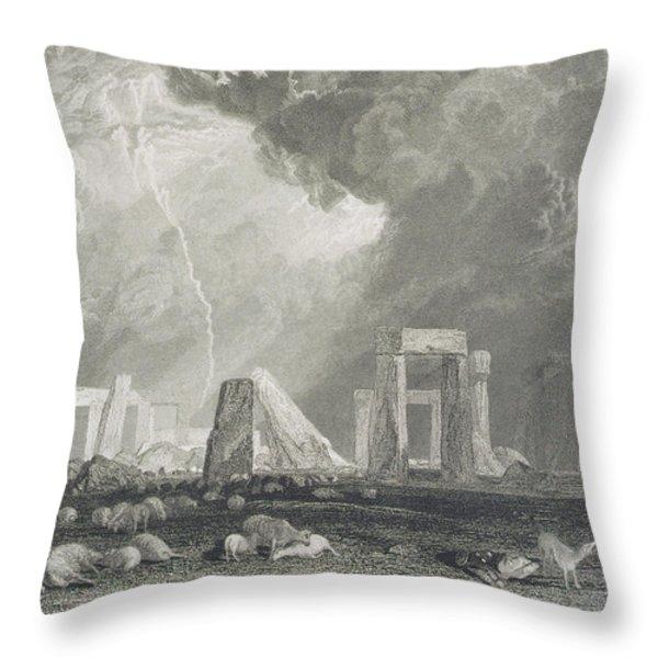 Stone Henge Throw Pillow by Joseph Mallord William Turner