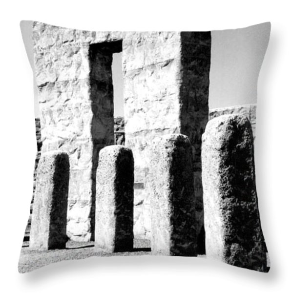 Stonehenge Replica Throw Pillow by Chalet Roome-Rigdon