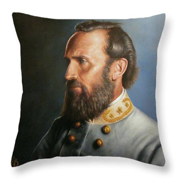 Stonewall Jackson Throw Pillow by Glenn Beasley