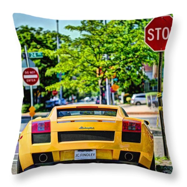 Stop Signs are Wrong Throw Pillow by JC Findley