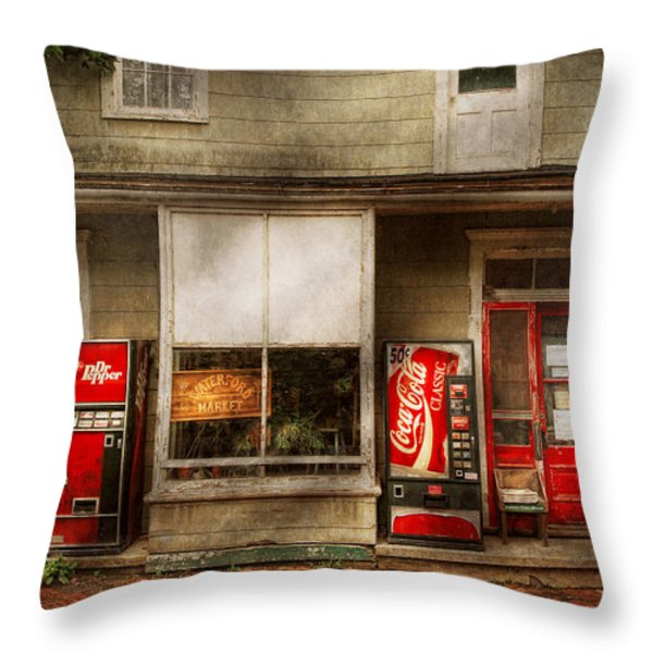 Store Front - Waterford Va - Waterford market  Throw Pillow by Mike Savad