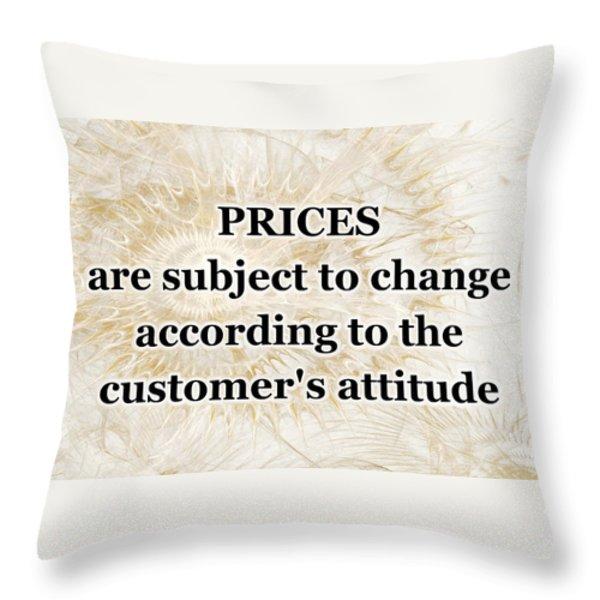 Store Sign Throw Pillow by Anastasiya Malakhova