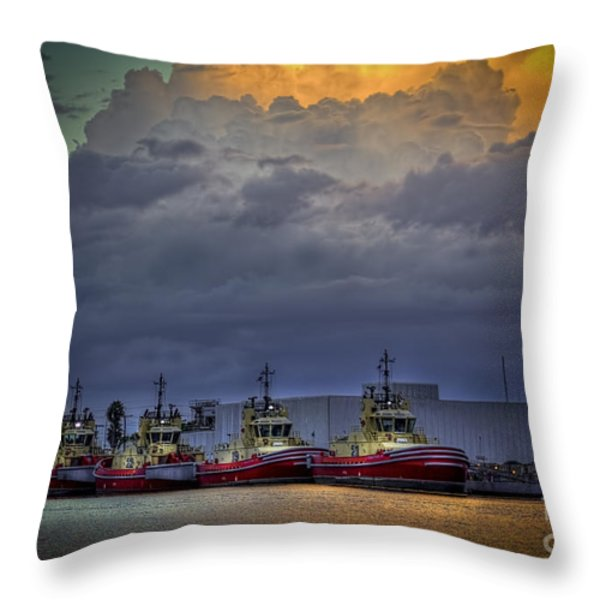 Storm Brewing Throw Pillow by Marvin Spates