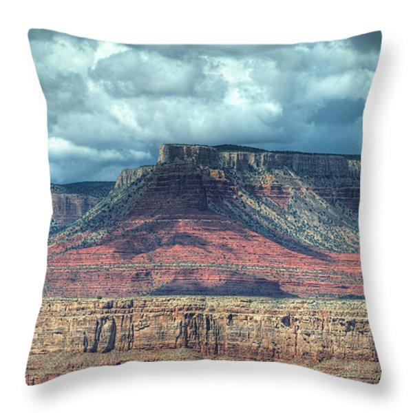 Storm Clouds Over Grand Canyon Throw Pillow by Donna Doherty