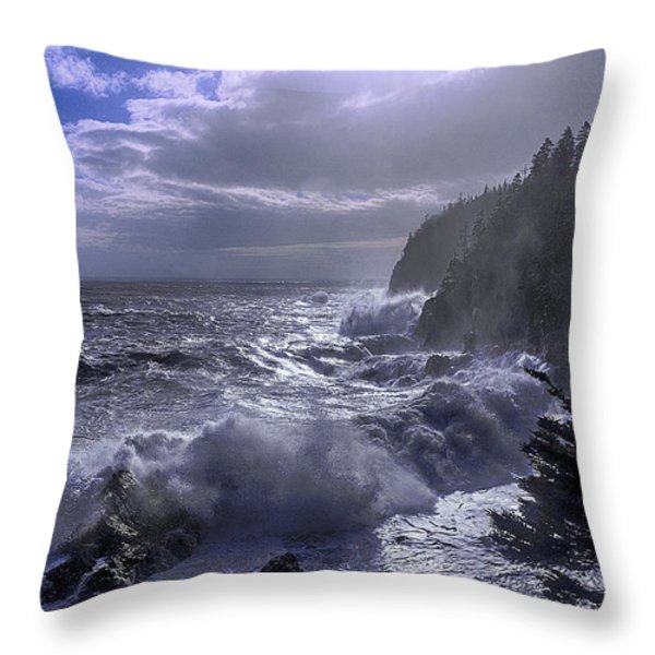 Storm Lifting at Gulliver's Hole Throw Pillow by Marty Saccone