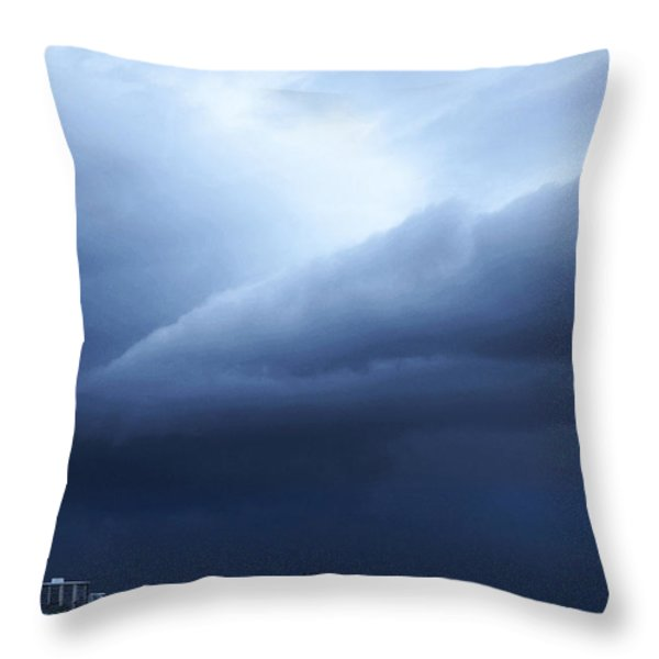 Storm Over Siesta Key - Beach Art By Sharon Cummings Throw Pillow by Sharon Cummings
