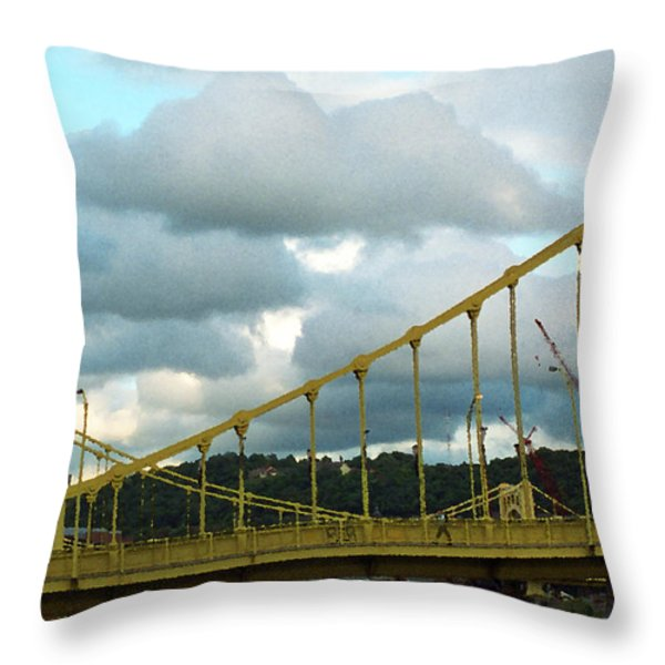 Stormy Bridge Throw Pillow by Frank Romeo