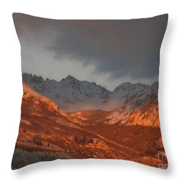 Stormy Monday Throw Pillow by Fiona Kennard