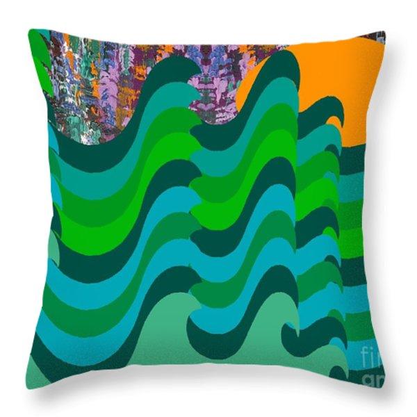 STORMY SEA Throw Pillow by Patrick J Murphy