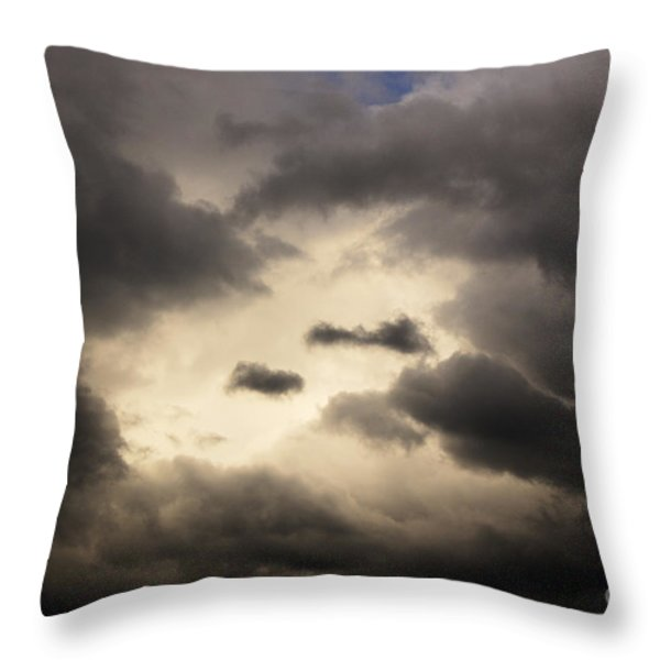 Stormy Sky with a Bit of Blue Throw Pillow by Thomas R Fletcher