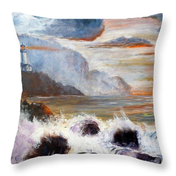 Stormy Sunset Throw Pillow by Lee Piper