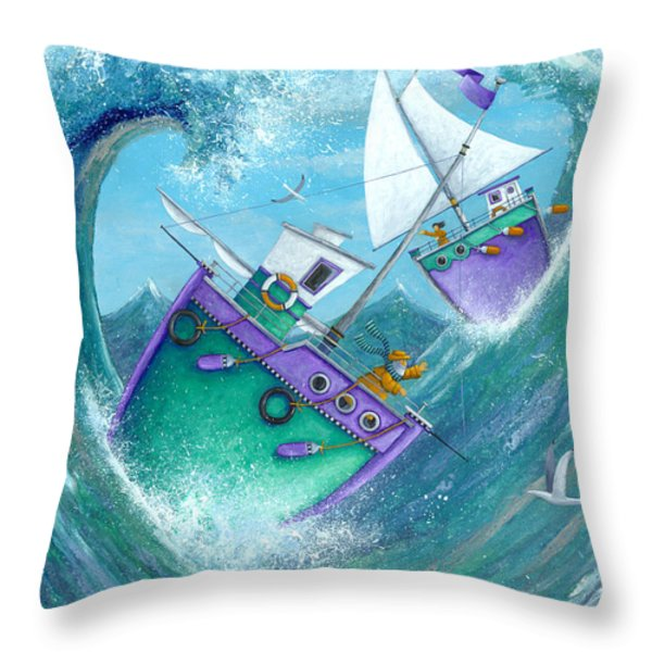 Stormy Weather Throw Pillow by Peter Adderley