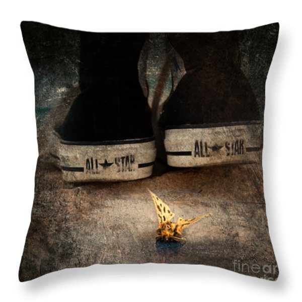 strange cold feeling Throw Pillow by Stylianos Kleanthous