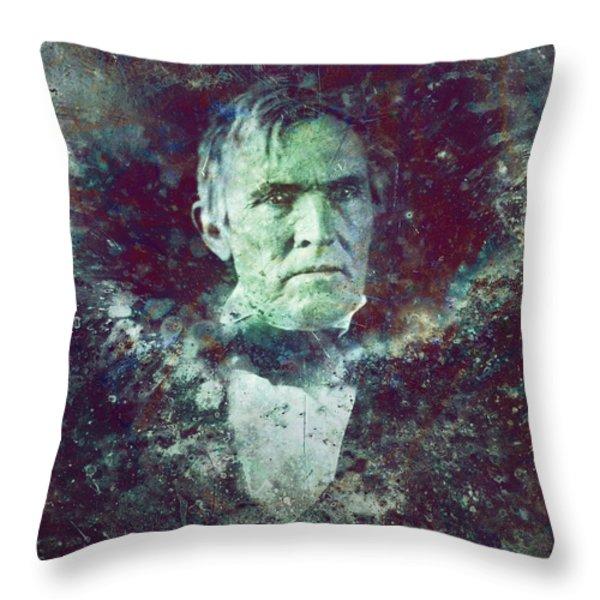 Strange Fellow 2 Throw Pillow by James W Johnson