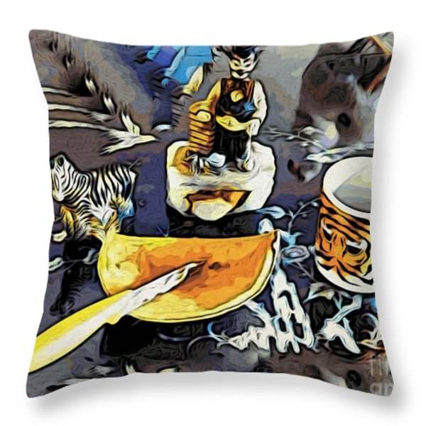 Strange Things That I Love Throw Pillow by Phyllis Kaltenbach