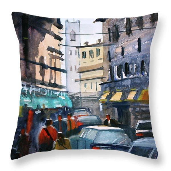 Strangers In Rome Throw Pillow by Ryan Radke