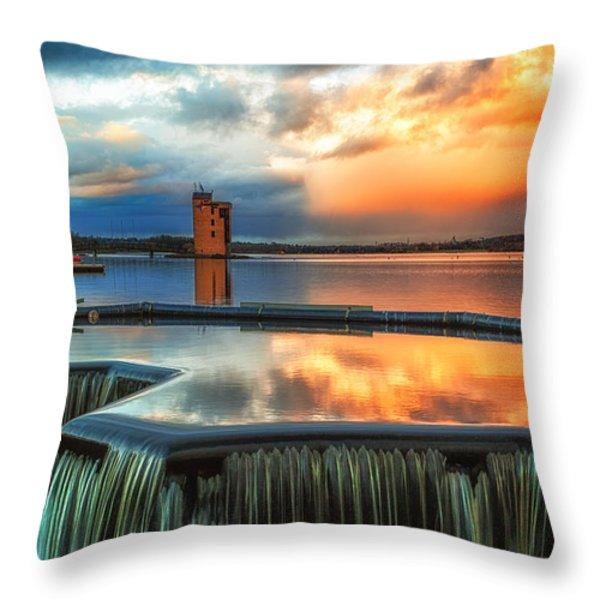 strathclyde loch wier  Throw Pillow by John Farnan