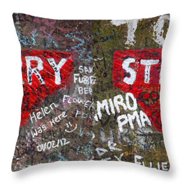 Strawberry Fields Forever Throw Pillow by Semmick Photo